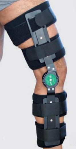 Ginocchiera post operatoria scheletrica con articolazioni regolabili